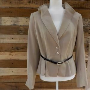 WHBM Elysee Wing Collar jacket size 10 NWT!